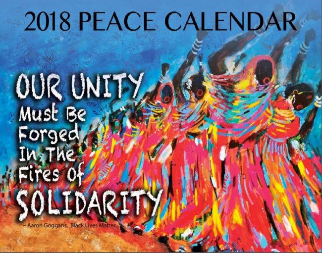 syracuse cultural workers 2018 peace calendar cover