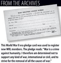 From the Archives: WRL Pledge Card
