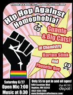 Hip Hop Against Homophobia flyer
