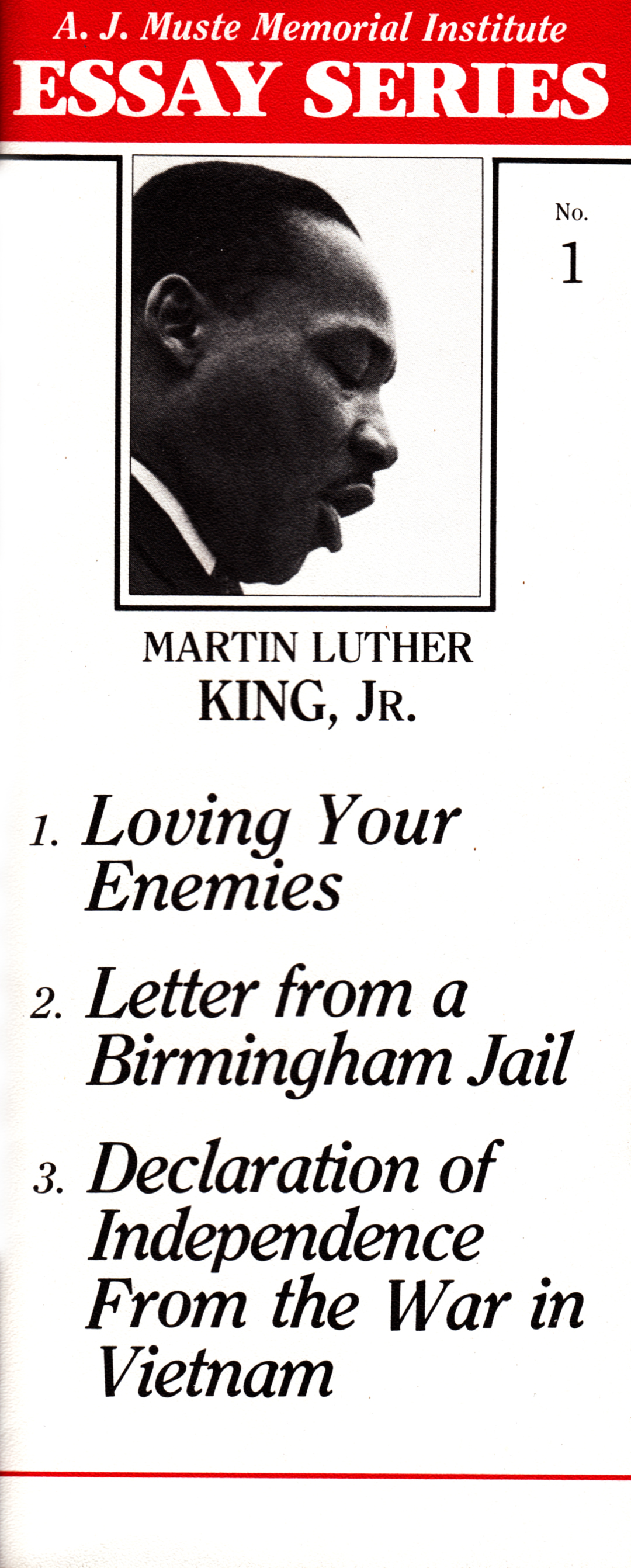 martin luther king jr essay Free essay on martin luther king jr available totally free at echeatcom, the largest free essay community.