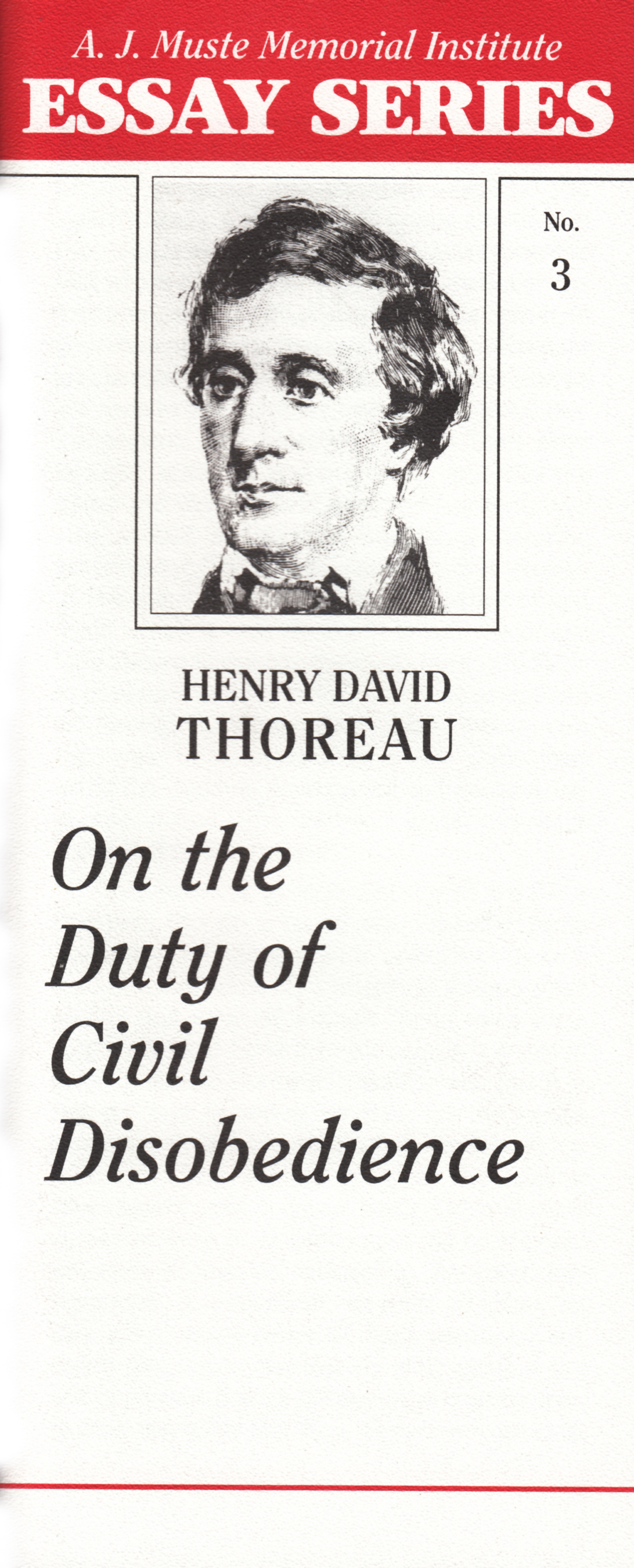 essay of civil disobedience thoreau Essay on civil disobedience 1 essay on civil disobedience henry david thoreau henry david thoreau (1817-1862) was a citizen of concord, massachusetts, where he lived.