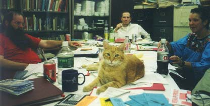 Meeting with the Socialist Party, October 2000. Photo by David McReynolds.
