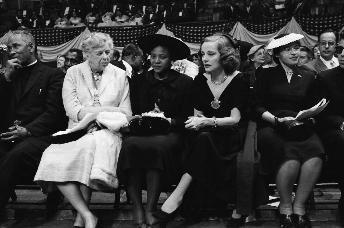 Eleanor Roosevelt, Autherine Lucy, actress Tallulah Bankhead, and Rosa Parks.