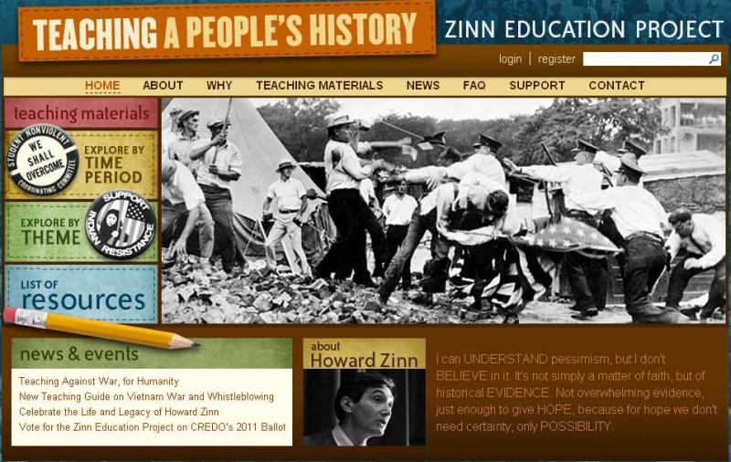 Zinn Education Project screen shot