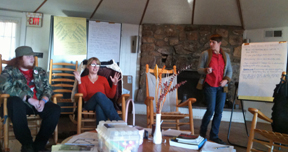 Kimber Heinz facilitating Movement Building for Allies at Highlander Center