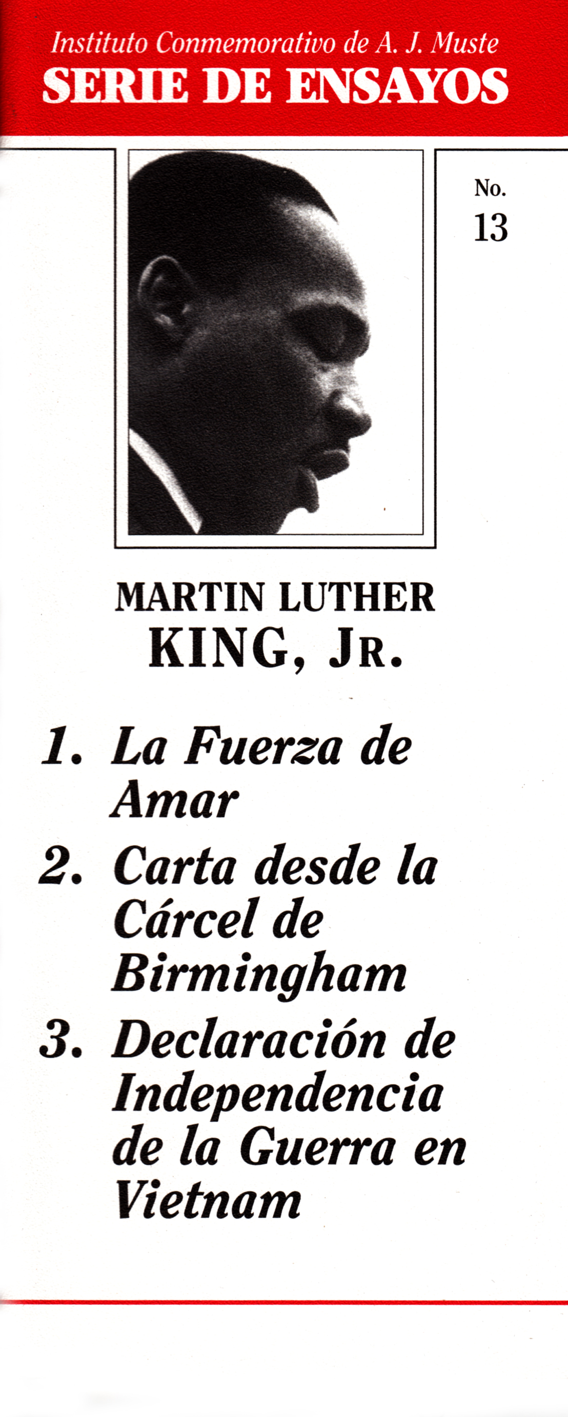 essays on martin luther king Free essays from bartleby | when informing americans across the nation of his dream, dr martin luther king jr proposed an unforgettable speech that would.