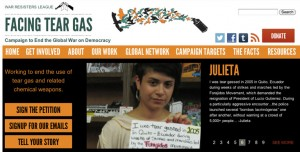 Facing Tear Gas website screenshot