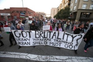 Facing Urban Shield action in Oakland, CA