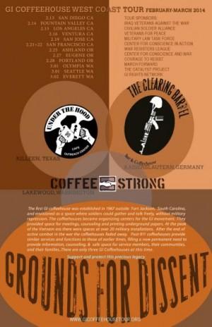 GI Coffeehouse West Coast Tour poster