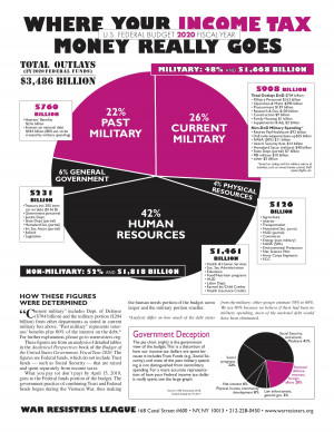 Pie Chart Flyers - Where Your Income Tax Money Really Goes