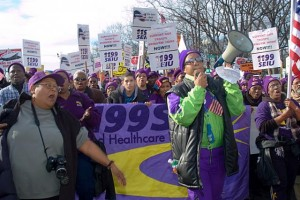 United Healthcare Workerse union marches against the war at the Capitol, January 27, 2007. Photo Diane Greene Lent