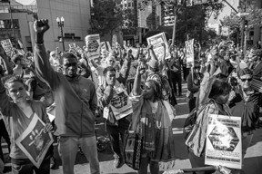 Stop Urban Shield Rally, Oakland, CA, September 5, 2014. Photo by Ramsey ElQare, www.elqarephotography.com