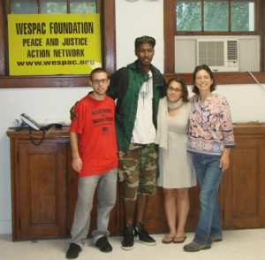 (L to R) Roger Drew, Jalal Sabur, Antoinette Klatsky, and Nada Khader at the new WESPAC space in White Plains.