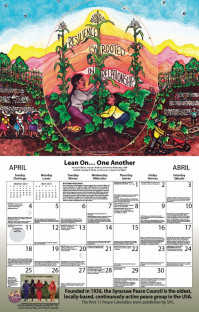 Syracuse Cultural Workers 2021 Peace Calendar - April