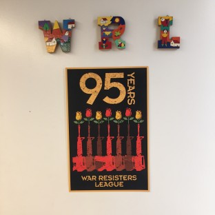 WRL 95th Anniversary Poster on the office door