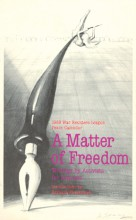 1988 War Resisters League Peace Calendar: A Matter of Freedom