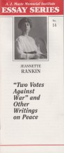 Two Votes Against War by Jeannette Rankin
