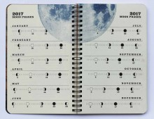 2017 Justseeds/Eberhardt Press Organizer Datebook Moon Phases