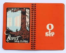 2017 Justseeds/Eberhardt Press Organizer Datebook October