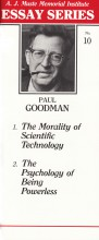 Two essays by Paul Goodman