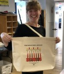 WRL 95th Anniversary Tote Bag modeled by WRL staffer Emma Rose Burke