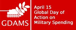 April 15 Global Day of Action on Military Spending logo