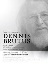 Dennis Brutus Memorial Poster