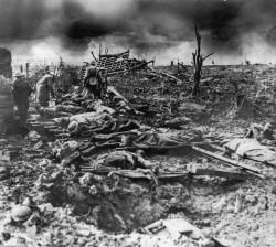 The battle at Passchendaele