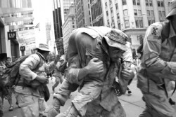 Iraq Veterans Against the War at Operation First Casualty, NYC.  Photo: Lovella Calica