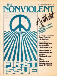Nonviolent Activist, First Issue: December, 1984